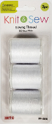 3 PC 150 YD SEWING THREAD-WHITE (24 PACKS) PF-4650
