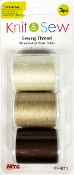 3PC 150YD SEWING THREAD-BROWN SERIES (24 PACKS) PF-4715