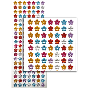 140 PCS FLOWER RHINESTONE STICKERS-ASSORT (24 PACKS) PF-4733
