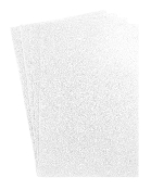 "4 PC 8""X12"" GLITTERED EVA FOAM SHEETS-WHITE (24 PACKS) PF-4690"