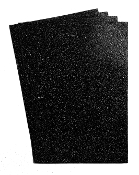 "4 PC 8""X12"" GLITTERED EVA FOAM SHEETS-BLACK (24 PACKS) PF-4691"