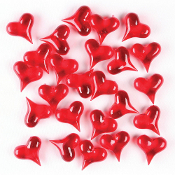 3 OZ GEM STONES - LARGE RED HEART (24 PACKS) PF-4351