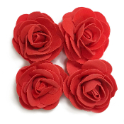 4 PCS 8 CM FOAM ROSES - RED (24 PACKS) PF-4661