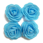 4 PCS 8 CM FOAM ROSES - LIGHT BLUE (24 PACKS) PF-4664