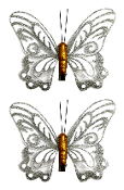"2 PC 5"" BUTTERFLY CLIPS-SILVER (24 PACKS) PF-4693"