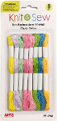 8 PCS 8M EMBROIDERY THREAD-PASTEL COLORS (24 PACKS) PF-4706