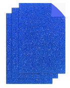 "3PC 8""X12"" ADHESIVE GLITTERED EVA SHEETS-BLUE (24 PACKS) PF-4709"