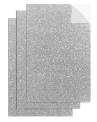 "3PC 8""X12"" ADHESIVE GLITTERED EVA SHEETS-SILVR(24 PACKS) PF-4712"
