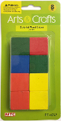 12 PC 2 CM WOOD CUBES - NATURAL (24 PACKS) PF-4724