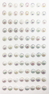 88 PC LARGE PEARL STICKERS-IRIDESCENT (24 PACKS) PF-4841