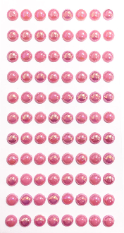 88 PC LARGE PEARL STICKERS-PINK (24 PACKS) PF-4842