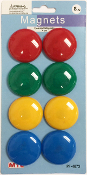 8 PC 4CM COLORED MAGNETS (24 PACKS) PF-4673