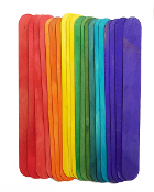 "40 PCS 6"" X 0.75"" WOODEN STICKS - ASSORTED (24 PACKS) PF-3305"