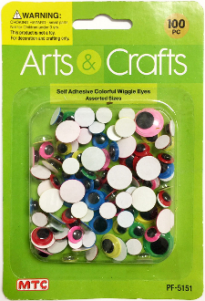 10 PC WIGGLE EYES - 4 CM (24 PACKS) PF-3597