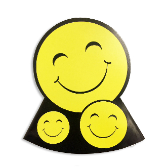 8 DIE-CUT PARTY HATS-SMILEY (24 PACKS) PF-7678
