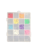 "12""X6.5""X2"" PLASTIC COLLECTION SET (12 PCS) 38026"