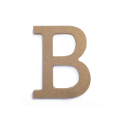 "4.5"" NATURAL WOOD LETTER - B (24 PACKS) PF-4874"