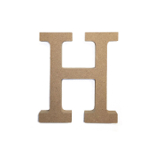 "4.5"" NATURAL WOOD LETTER - H (24 PACKS) PF-4880"