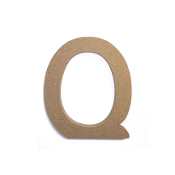 "4.5"" NATURAL WOOD LETTER - Q (24 PACKS) PF-4889"