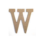 "4.5"" NATURAL WOOD LETTER - W (24 PACKS) PF-4895"