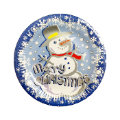 "SALE! 8 PCS 7"" PLATE - SNOWMAN (48 PACKS) PF-5301"