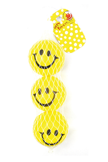 "2 PCS 3"" SMILEY BALLS (24 PCS) PF-1372"