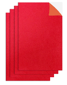 "3 PC 8""X12"" ADHESIVE GLITTERED EVA SHEETS-RED (24 PACKS) PF-4707"
