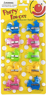 10PC ROOSTER PENCIL SHARPENERS (24 PCS) PF-1054