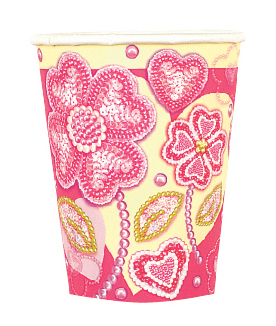 SALE! 8 PCS 9 OZ CUPS - PEARL FLOWERS (48 PCS) PF-21100
